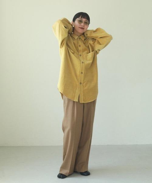 [TODAYFUL] ベロアオーバーシャツ