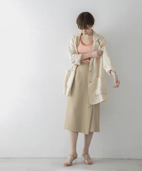 [URBAN RESEARCH] アシメラップ風タイトスカート