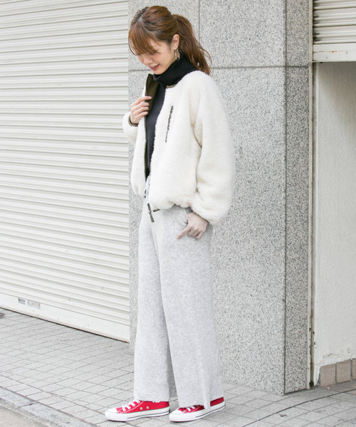 [URBAN RESEARCH OUTLET] ワイドリブニットパンツ∴