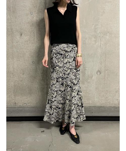 [Mila Owen] マーメイド花柄ナロースカート