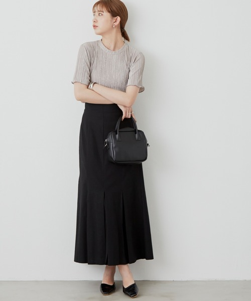 リネンブレンドプリーツスカート / AUNT MARIE'S