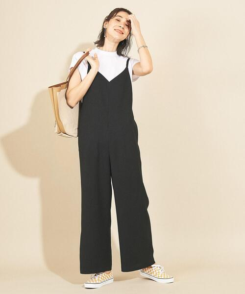[BEAUTY&YOUTH UNITED ARROWS] 【WEB限定】by∴ リネンタッチキャミサロペット -ウォッシャブル-
