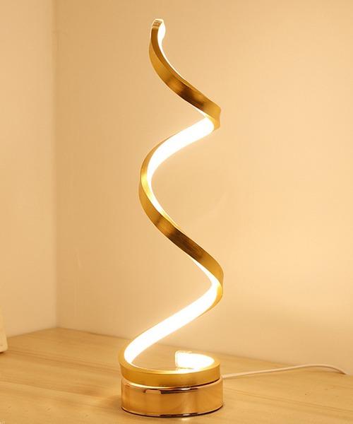 [florist] 【3色変光】おしゃれなスパイラルポールLED間接照明テーブルランプ