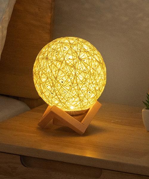 [florist] 調光機能付きおしゃれな編み上げボール間接照明テーブルランプ