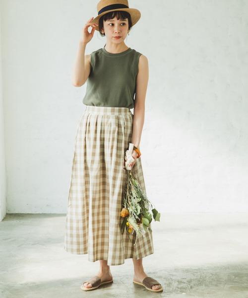 【pairmanon】総柄 ロング スカート