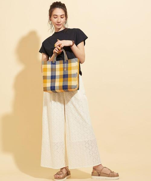 [BEAUTY&YOUTH UNITED ARROWS] <OJODEMEX>∴チェックメルカドバッグ S/かごバッグ15