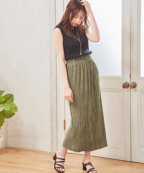 プリーツタイト/スカート