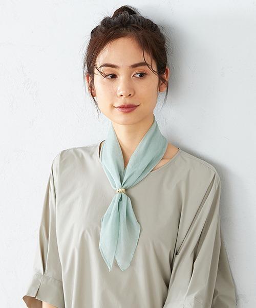 巻き方⑥リング付きスカーフで簡単きちんと見え