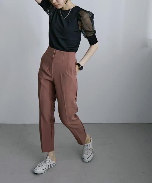 [Fashion Letter] ハイウエストテーパードパンツ 21SS2