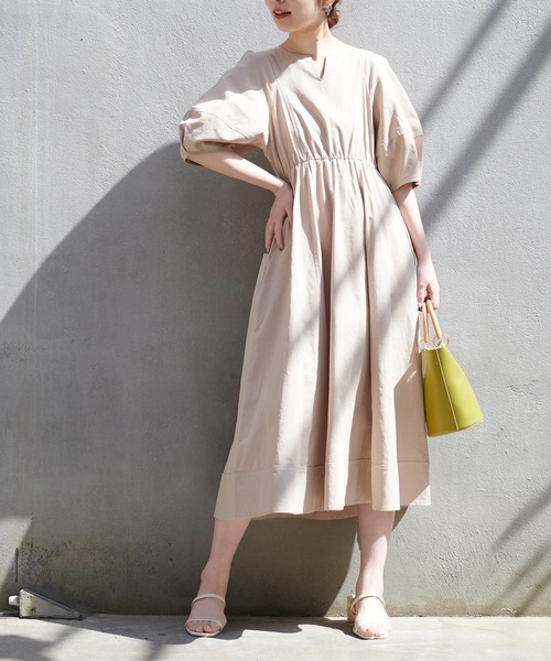 natural couture] 【WEB限定】ランタンスリーブワンピース