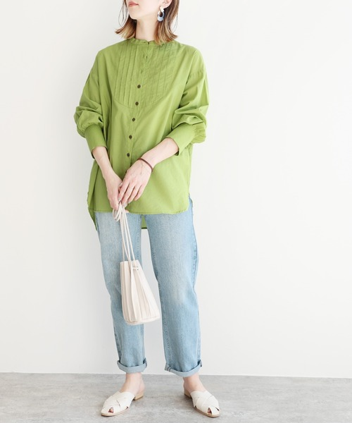 reca] ピンタックドレスシャツ