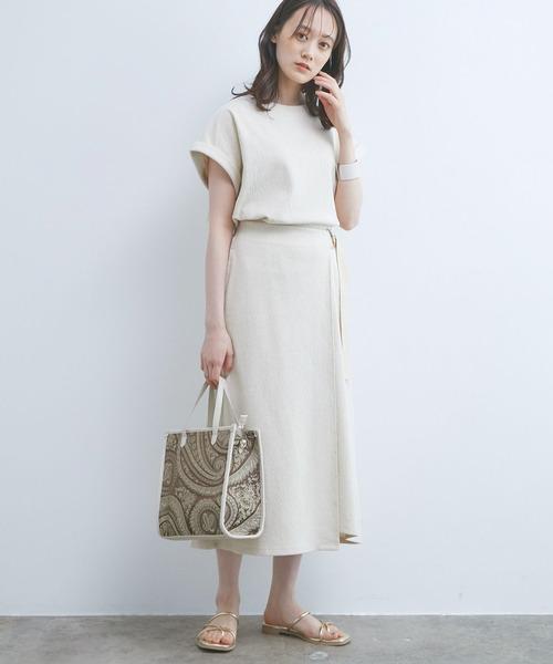 【ViS】カットジャカードラップスカート
