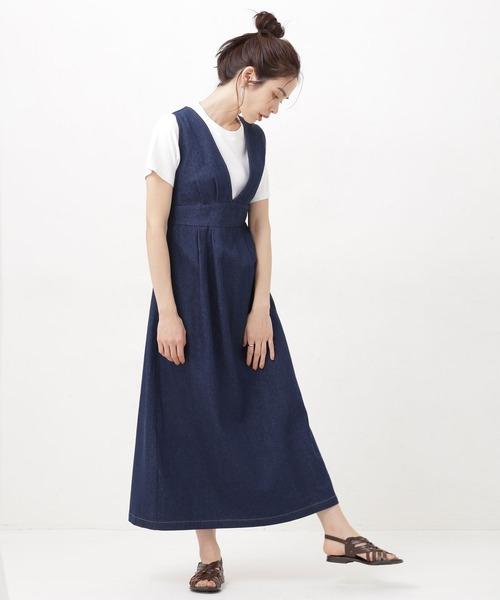 WEB限定/Vネックジャンパースカート