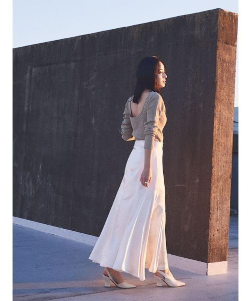 サテンマーメードスカート
