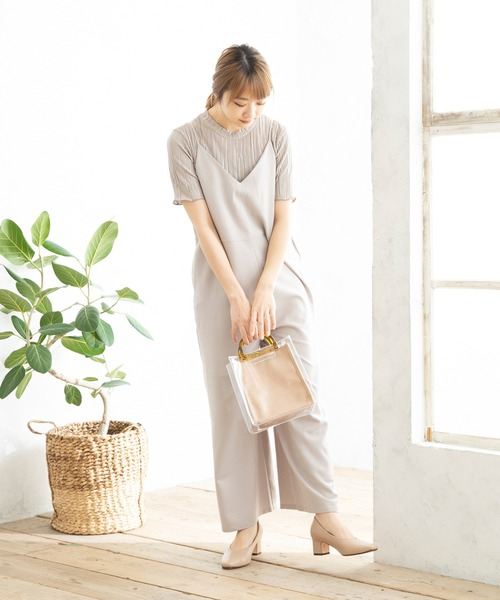 welleg from outletshoes チャンキーヒールパンプス