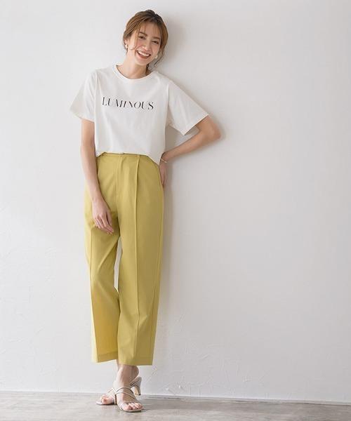 [Pierrot] [ミキティ着用]LUMINOUSシルケットロゴTシャツ