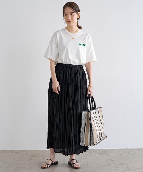 [Loungedress] レースプリーツギャザースカート