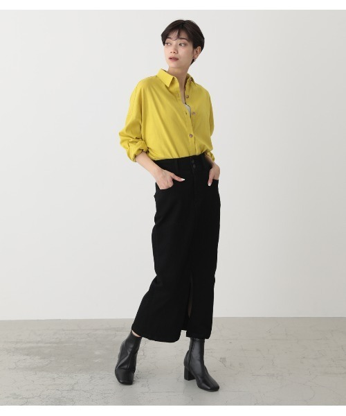 [AZUL BY MOUSSY] BACK GATHER OVER SHIRTS/バックギャザーオーバーシャツ