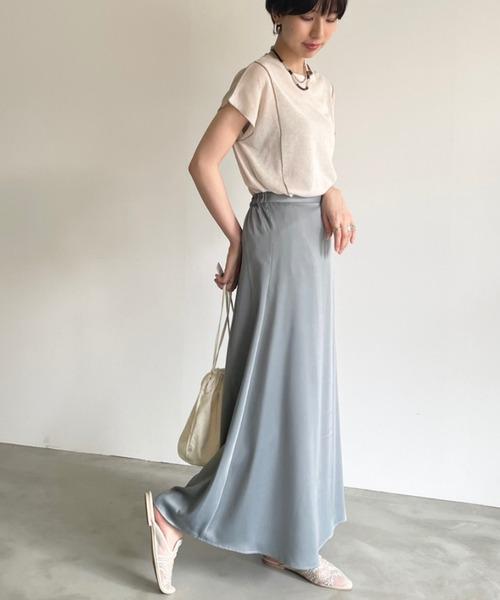 [Auntie Rosa] マーメイドサテンロングスカート