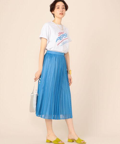 [NOLLEY'S] カールマイヤーストライププリーツスカート