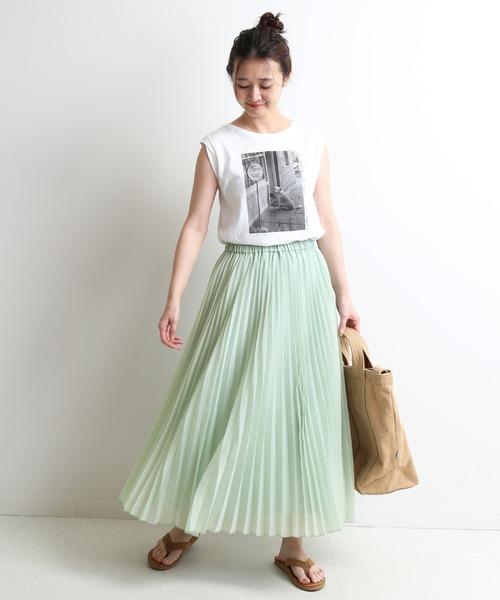 [IENA] シアープリーツスカート【ウエストゴム
