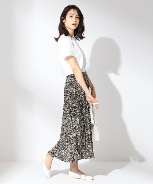 ダブルプリーツ スカート