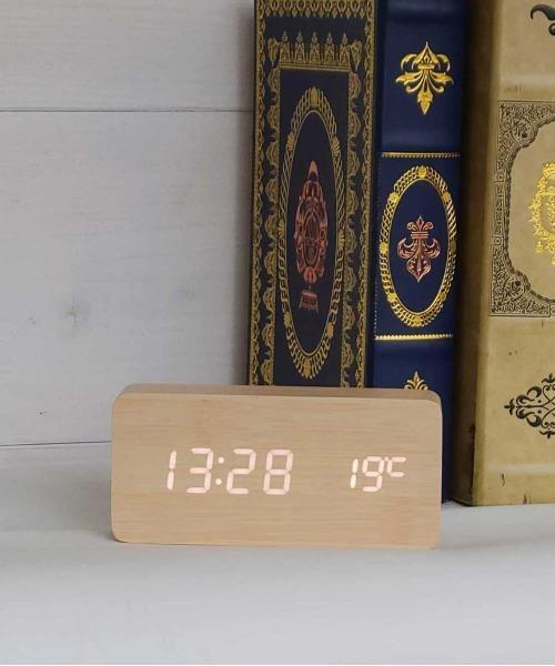 [RiNc] 【 ammy. / エイミードット 】LED WOODEN CLOCK / デジタル 置時計