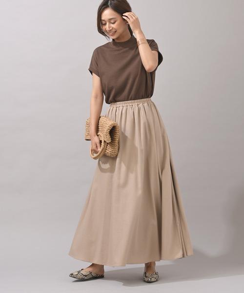 [rps] リネンギャザースカート