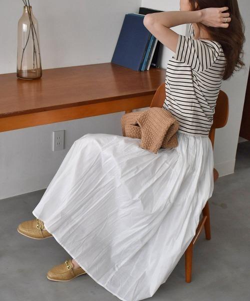 [Ranan] インド綿フレアーマキシ丈ロングスカート