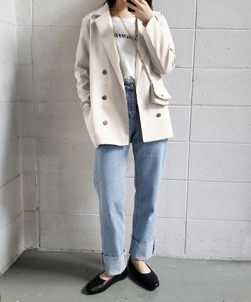 [UNE MANSION] チェーンミニバッグ付きテーラードジャケット