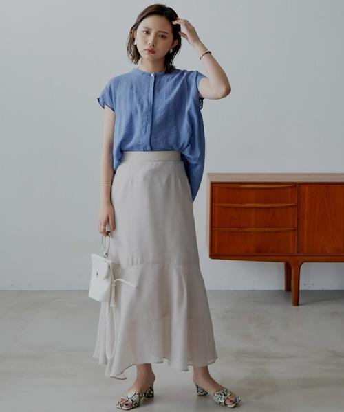 シアーツイルマーメイドスカート/AUNT MARIE'S