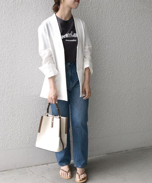 [SHIPS for women] SHIPS any:シャンブレーリネンミックス ライトジャケット