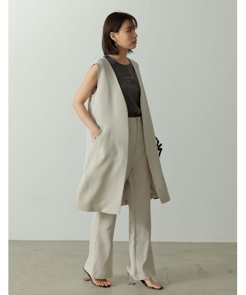 [Re:EDIT] [飯豊まりえさん着用]ストレッチツイルノースリーブジャケット