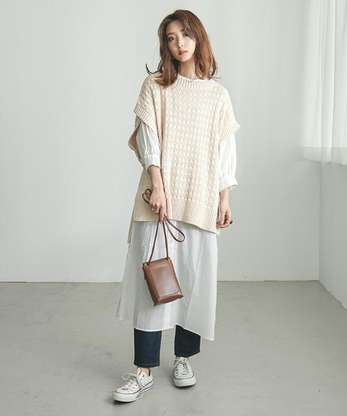 [Fashion Letter] 裾スリットニットベスト 21SS