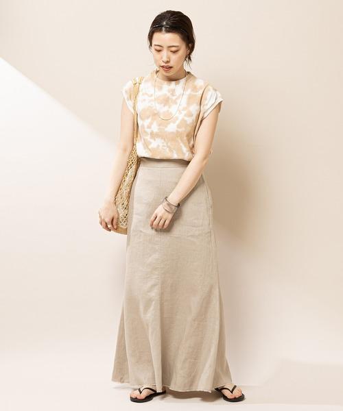 [SHENERY] 【WEB限定カラー:グリーン】リネンマーメイドスカート