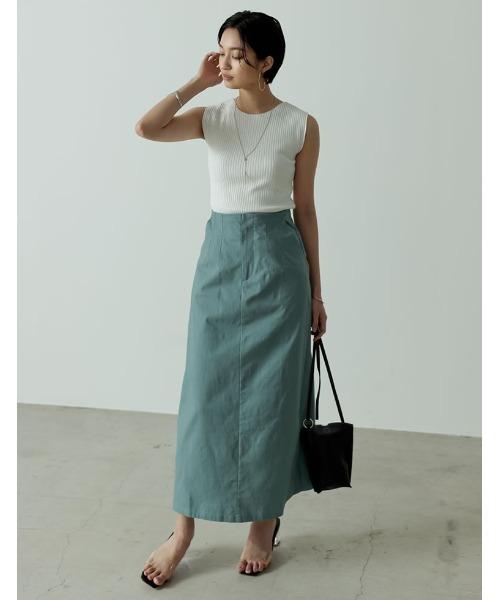 [Re:EDIT] ストレッチコットンIラインスカート