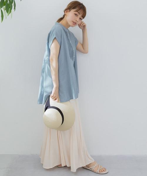 エアリーコットンピンタックドレスシャツ