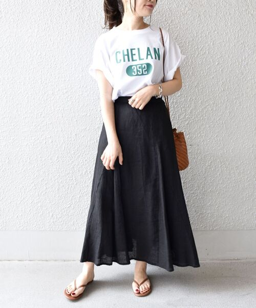 [SHIPS for women] 【WEB限定】カレッジビッグTEE◆