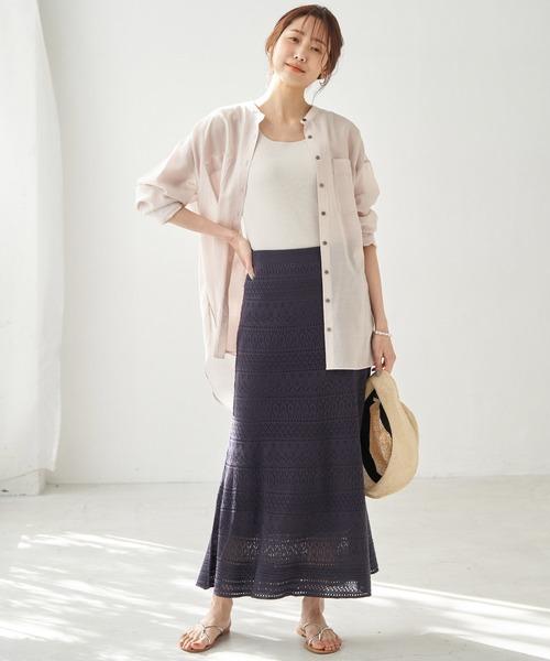 [ROPE' PICNIC] 透かしマーメイドスカート