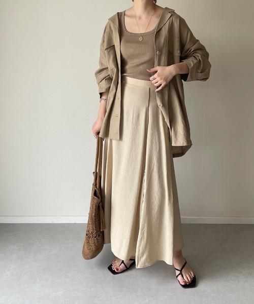 y/m] 楊柳パイピングマーメイドスカート