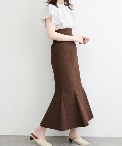 ハイウエストマーメイドスカート