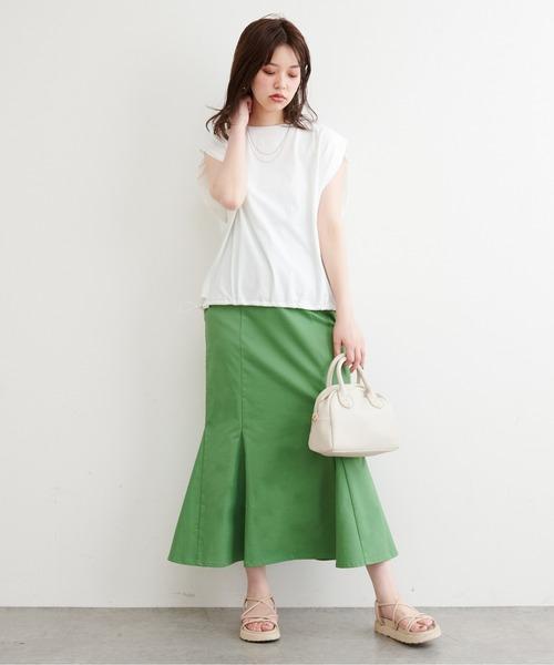 [natural couture] 【WEB限定】ハイウエストマーメイドスカート