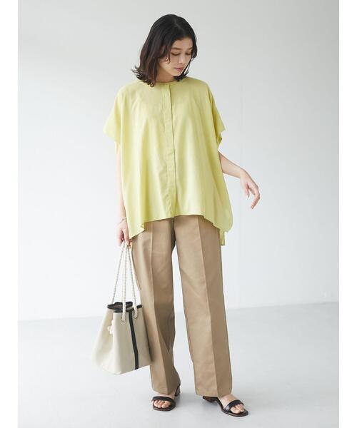 [Green Parks] フレンチスリーブビッグシャツ