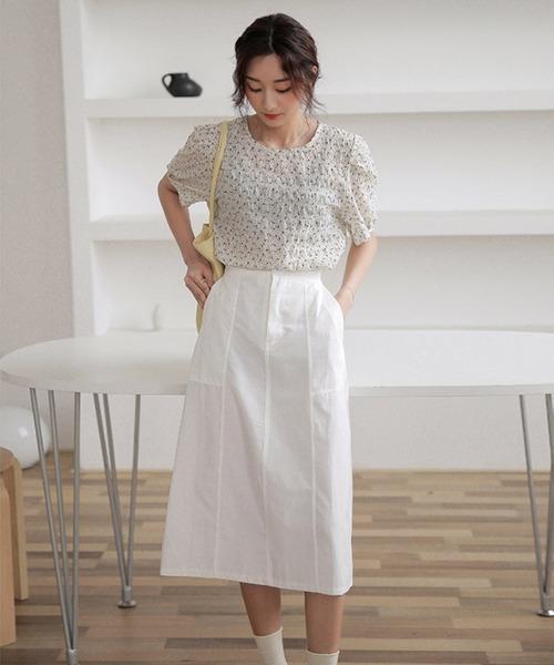 chic韓国風無地Aラインスカート