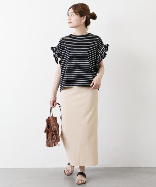 [JOURNAL STANDARD] ジョーゼットポンチタイトスカート◆