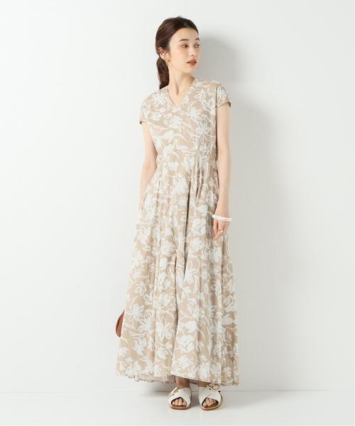 [IENA] 【MARIHA/マリハ】春の月のドレス ショートスリーブ
