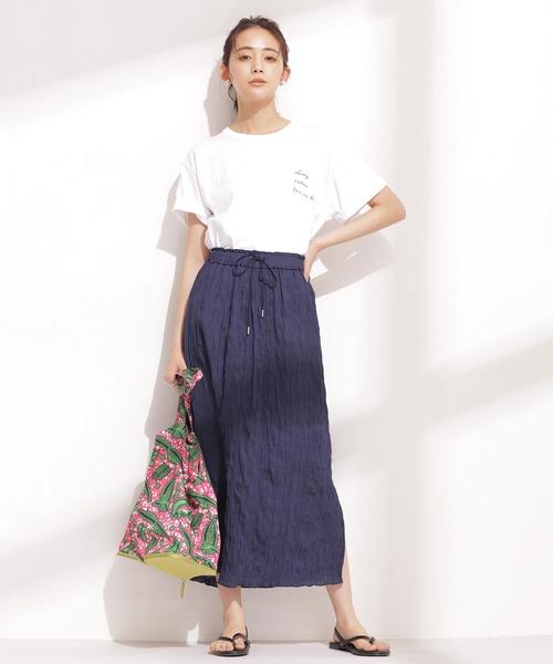 [nano・universe] 楊柳プリーツIラインスカート