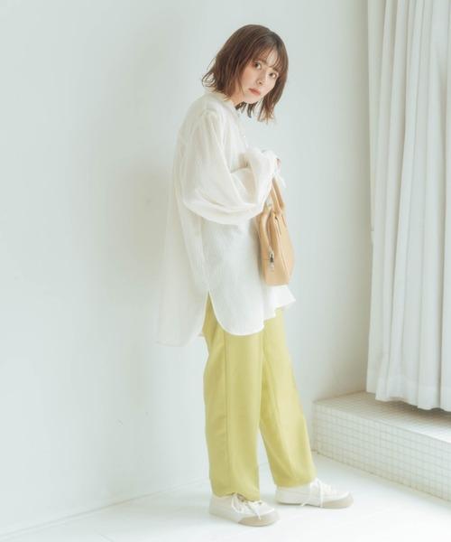 【nemne】木漏れ日に光るシアードレスシャツ