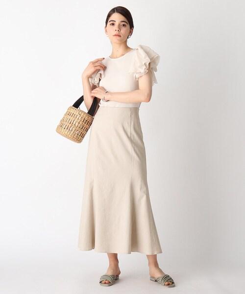 [OPAQUE.CLIP] リネンマーメイドスカート
