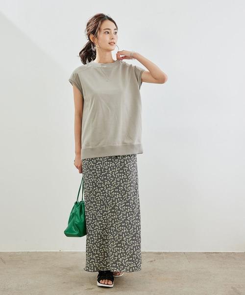 [ROPE' PICNIC] 【着丈調節の出来る】フラワーマーメイドマキシスカート